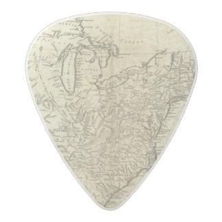 Mapa de los Estados Unidos de América Púa De Guitarra Acetal