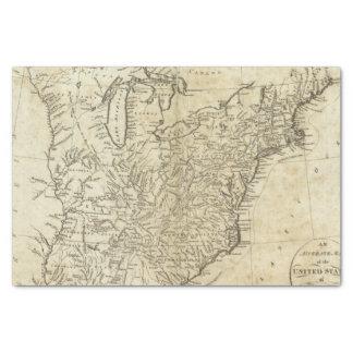 Mapa de los Estados Unidos de América Papel De Seda Pequeño
