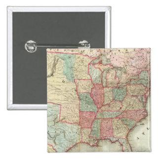 Mapa de los Estados Unidos de América Pin Cuadrada 5 Cm