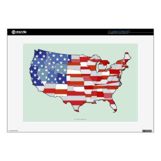 Mapa de los Estados Unidos de América Portátil Calcomanías