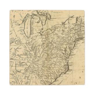 Mapa de los Estados Unidos de América Posavasos De Madera