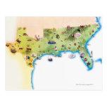 Mapa de los Estados Unidos de América Postal
