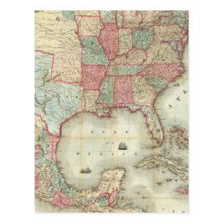 Mapa de los Estados Unidos de América Postales