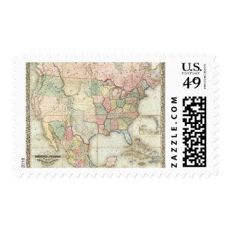 Mapa de los Estados Unidos de América Sello