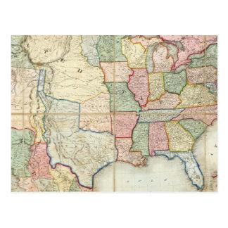 Mapa de los Estados Unidos de América Tarjetas Postales