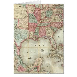 Mapa de los Estados Unidos de América Tarjeton