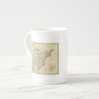 Mapa de los Estados Unidos de América Taza De Porcelana