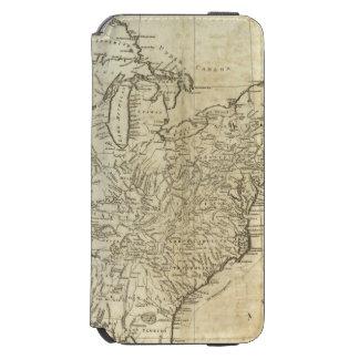 Mapa de los Estados Unidos de América Funda Cartera Para iPhone 6 Watson