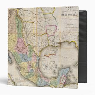 Mapa de los Estados Unidos De Mejico 3 Ring Binder
