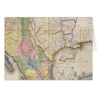 Mapa de los Estados Unidos De Mejico Greeting Card
