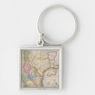 Mapa de los Estados Unidos De Mejico Keychain