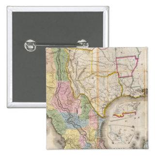 Mapa de los Estados Unidos De Mejico Pin Cuadrada 5 Cm