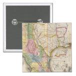Mapa de los Estados Unidos De Mejico Pin Cuadrado
