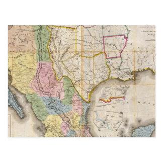 Mapa de los Estados Unidos De Mejico Postcard