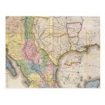 Mapa de los Estados Unidos De Mejico Tarjetas Postales