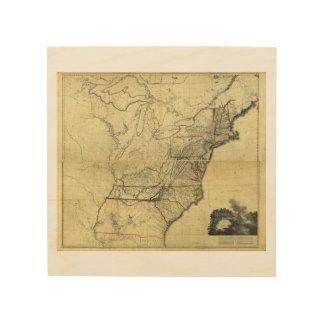 Mapa de los Estados Unidos de Norteamérica (1811) Cuadro De Madera