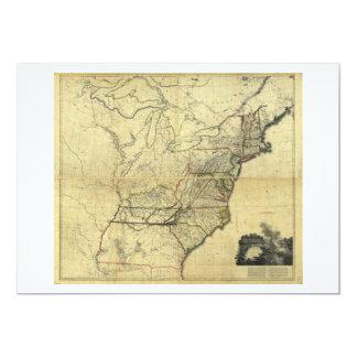 """Mapa de los Estados Unidos de Norteamérica (1811) Invitación 5"""" X 7"""""""