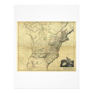 Mapa de los Estados Unidos de Norteamérica (1811) Plantilla De Membrete