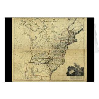 Mapa de los Estados Unidos de Norteamérica (1811) Tarjeta De Felicitación