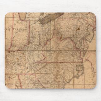 Mapa de los Estados Unidos del joven de Abraham Br Alfombrilla De Ratones
