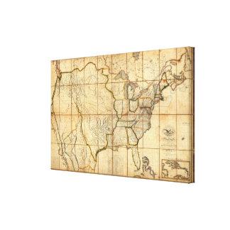 Mapa de los Estados Unidos Impresión En Lienzo