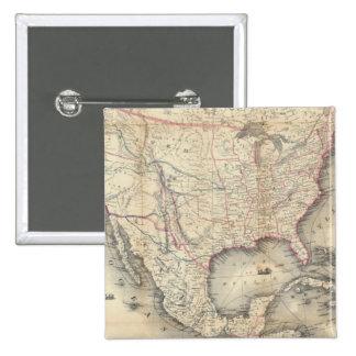 Mapa de los Estados Unidos Pin Cuadrada 5 Cm