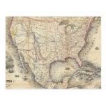 Mapa de los Estados Unidos Postal