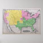 Mapa de los Estados Unidos Póster