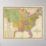 Mapa de los Estados Unidos Posters