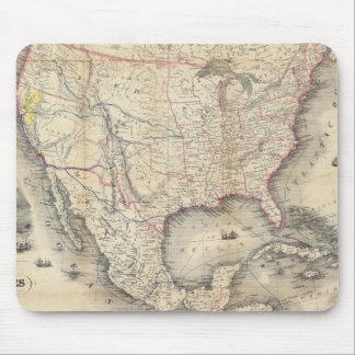 Mapa de los Estados Unidos Alfombrillas De Raton