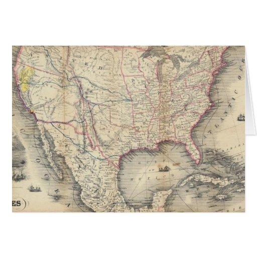 Mapa de los Estados Unidos Tarjeta De Felicitación
