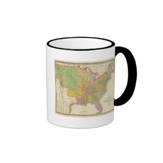 Mapa de los Estados Unidos Taza A Dos Colores