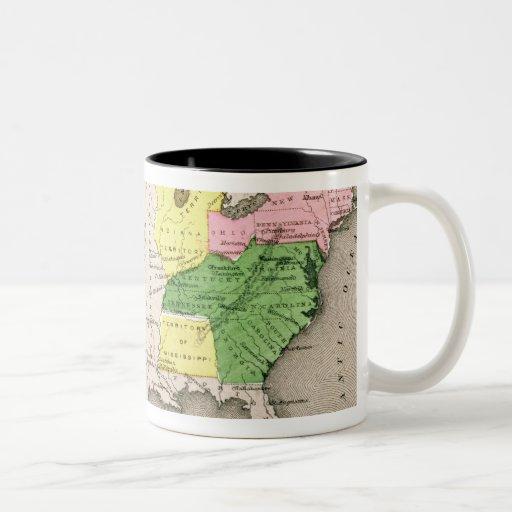 Mapa de los Estados Unidos Taza De Dos Tonos