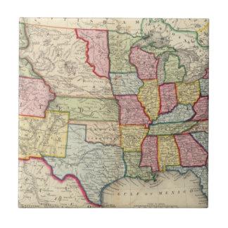 Mapa de los Estados Unidos, y de los territorios Teja Ceramica