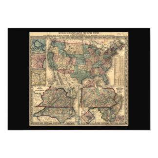 """Mapa de los Estados Unidos y de los territorios Invitación 5"""" X 7"""""""