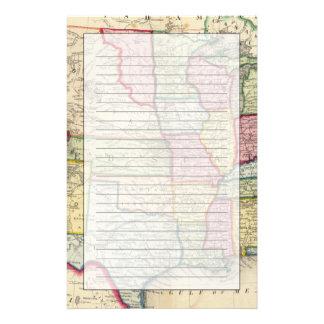 Mapa de los Estados Unidos, y de los territorios Personalized Stationery