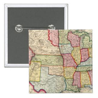 Mapa de los Estados Unidos, y de los territorios Pin Cuadrado