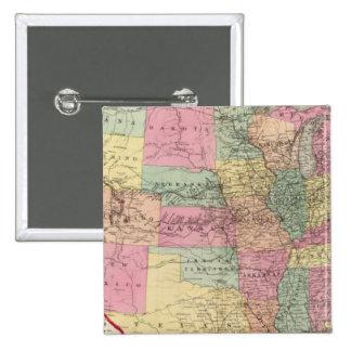 Mapa de los Estados Unidos y de los territorios Pin Cuadrado