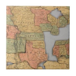 Mapa de los Estados Unidos y del Canadá Azulejos Ceramicos