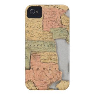 Mapa de los Estados Unidos y del Canadá iPhone 4 Case-Mate Coberturas
