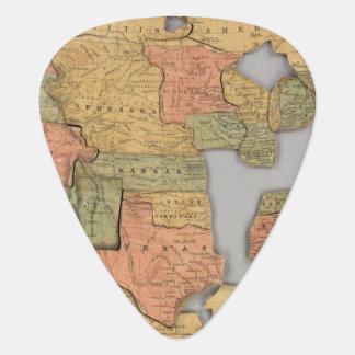 Mapa de los Estados Unidos y del Canadá Púa De Guitarra