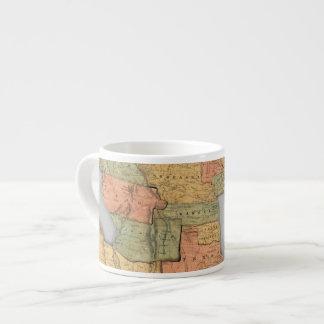 Mapa de los Estados Unidos y del Canadá Taza Espresso