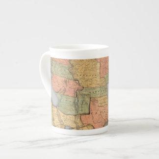 Mapa de los Estados Unidos y del Canadá Taza De Porcelana