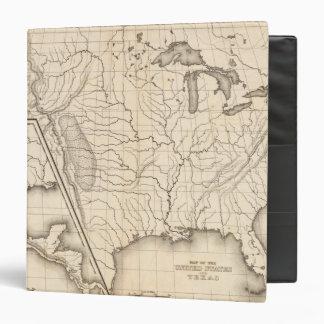 Mapa de los Estados Unidos y del Tejas