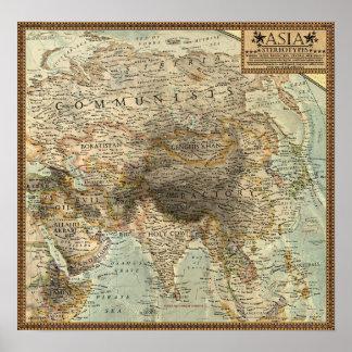 Mapa de los estereotipos - Asia