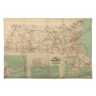 Mapa de los ferrocarriles de calle de Massachusett Manteles