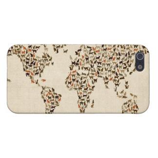 Mapa de los gatos del mapa del mundo