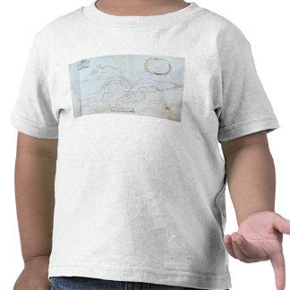 Mapa de los Great Lakes Camiseta