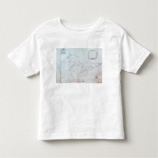 Mapa de los Great Lakes Playera De Bebé