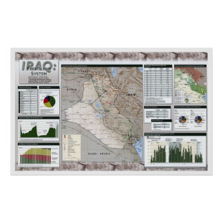 Mapa de los hechos del aceite de Iraq - 2002 Impresiones